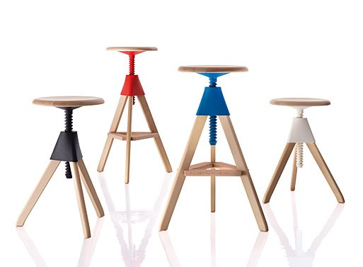 Tom jerry stools barstools better living through design - Screw top bar stools ...