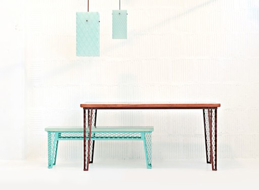 Mesh Series Tables and Lamps by Horgan Becket