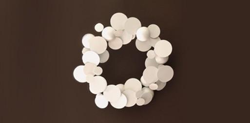 Mod Op Art White Wreath
