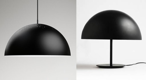 Mater Black Dome and Shade Pendal Lamp