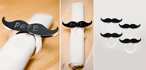 Mustache Napkin Rings
