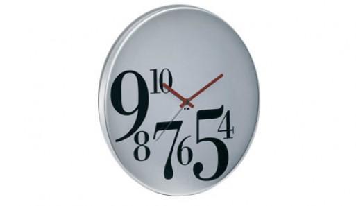 Big Time Bodoni Wall Clock