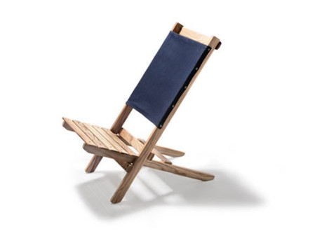 Waxed Canvas & White Ash Travel Chair