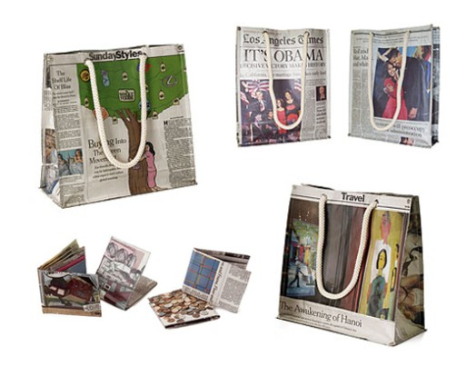 Newspaper Bags, Totes, Wallets