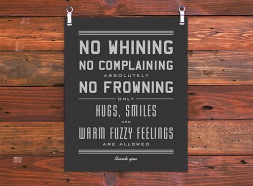 No Whining Art Print