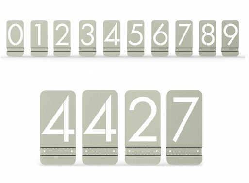 Modern Metal House Numbers