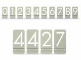 Modern Metal House Numbers