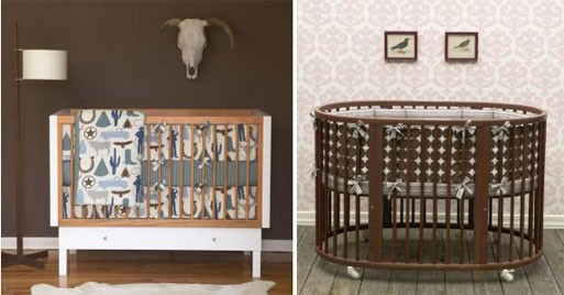Oval Dots And Cowboy Crib Bedding