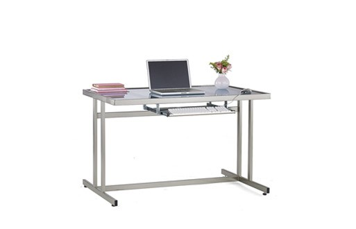 studio metal and glass large workstation