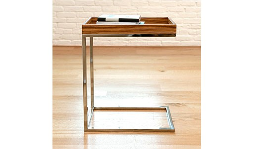 tray-top C side table, zebrawood