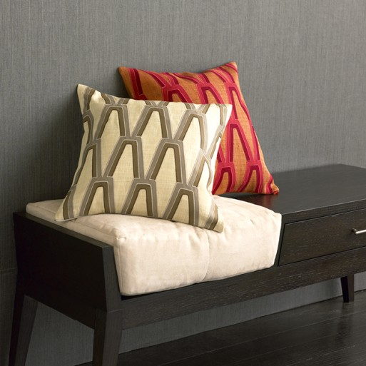 graphic grid pillow cover