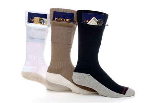 Zip It Gear Passport Pocket Sock