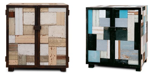 Reclaimed Patchwood Cube Cabinet