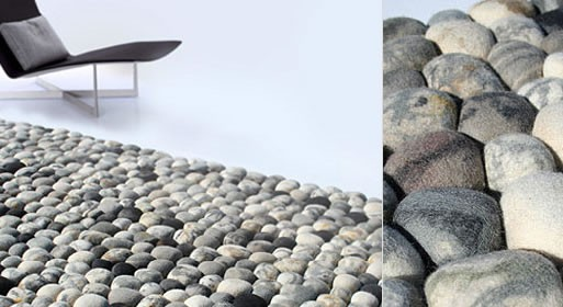 River Bed Pebble Modern Rug by Ksenia Movafagh