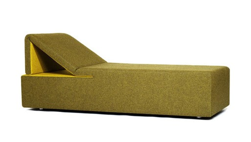 Peel Chaise/Sleeper Green by Council Design