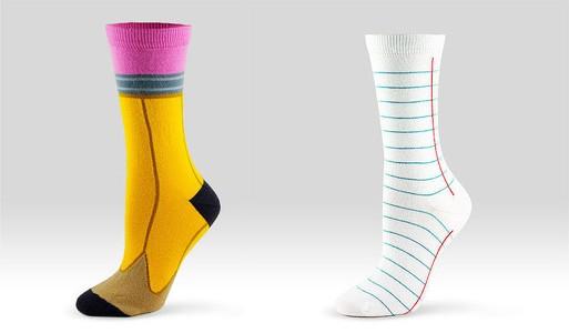 Pencil Socks, Notebook Socks
