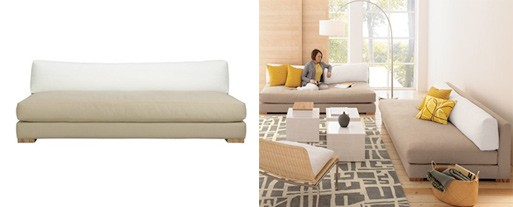 Piazza Sofa (Sand/White)