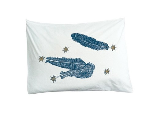 Feather Pillowcases by Kiki Smith