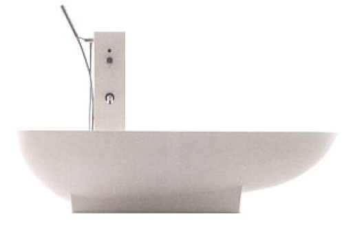 Spoon Bathtub with tap pillar