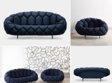 Quilt Sofa and Armchair