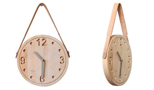 Raw Wood Wall Clock