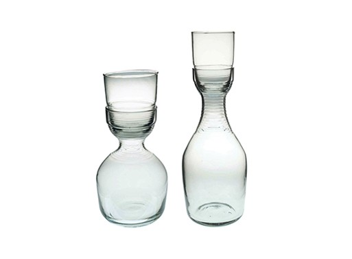 Recycled Glass Carafes & Tumblers