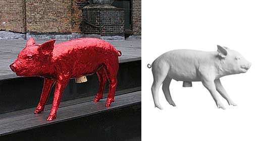 Harry Allen Limited Edition Red-Chrome Pig Bank