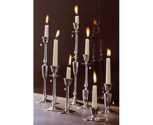 Silver Spindle Candlesticks