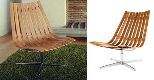Scandia Swivel Chair by Hans Brattrud, 1957