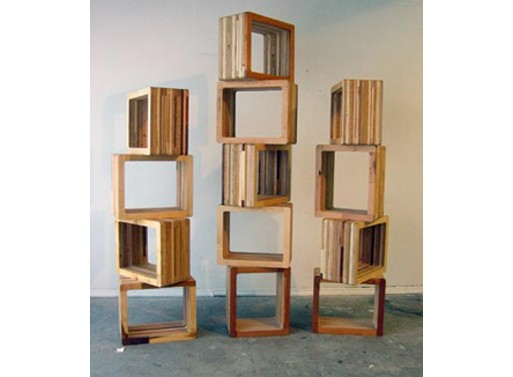 Scrapile cube furnishings better living through design Wooden cube furniture