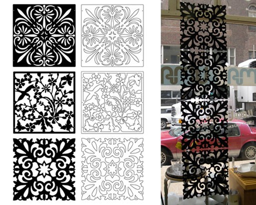 Cutout Screen Panel Set