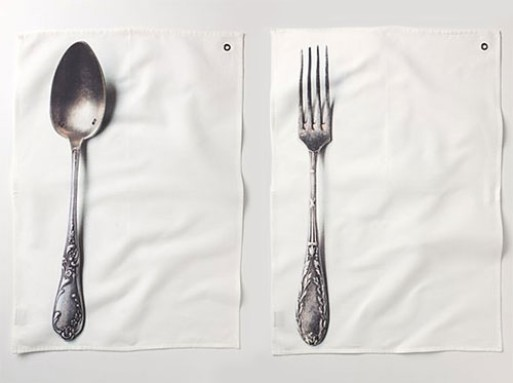 Silverware Dishtowels at Anthropologie
