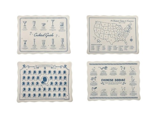 Four Diner Placemats