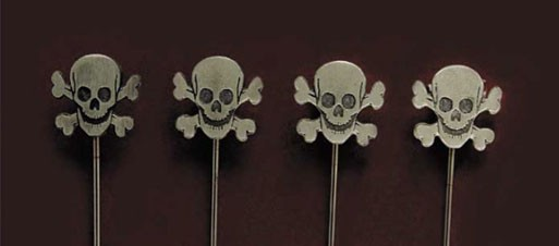 Skull and Bones Cocktail picks