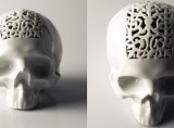 Filigree Skull Money Box