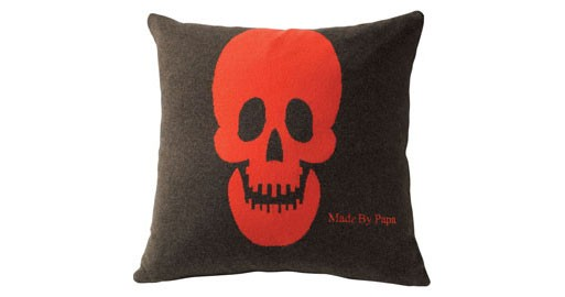 Cashmere Skull Pillow