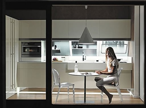 Snaidero Kitchen-floating cabinetry