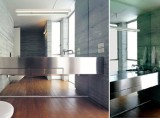 Stainless Steel Counter/Mirror Wall