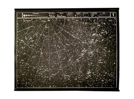 Hand-Screened Celestial Star Chart