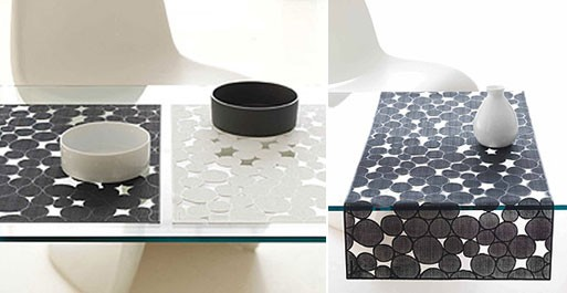 Pressed Vinyl Dots Placemat & Runner