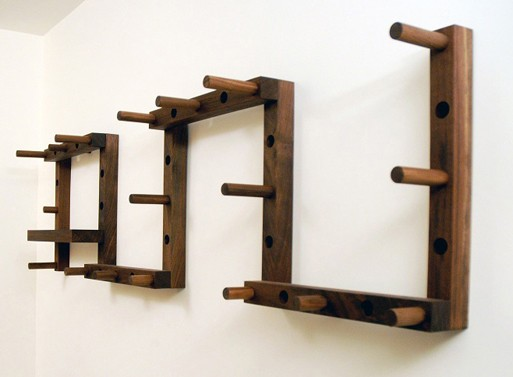 Thru-Block coat rack