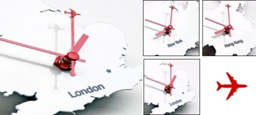 Set of 3 Clocks (London, New York, Hong Kong)