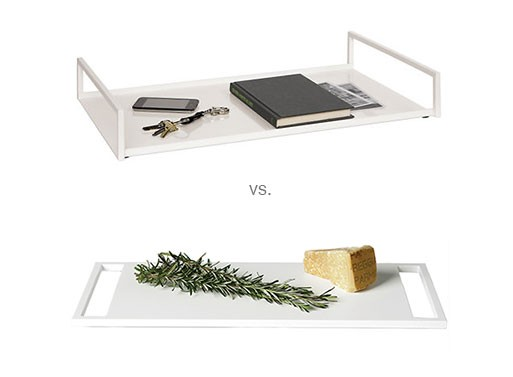 Steel Tray vs. Corian Tray