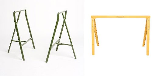 Uo sawhorse table legs and crawford sawhorse desk work Sawhorse desk legs