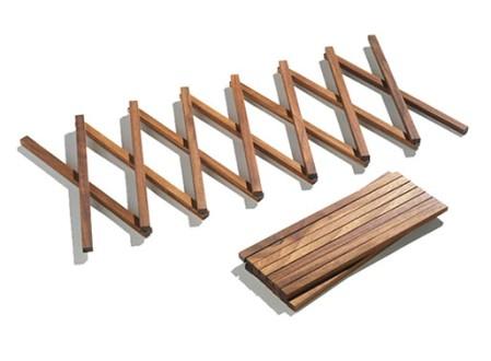 Concertina Wood Trivet