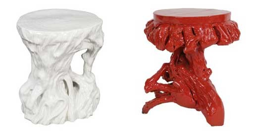 Root & Ceramic Trunk Stool