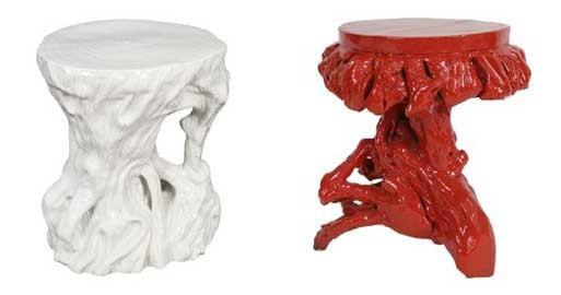 Root & Ceramic Trunk Stool