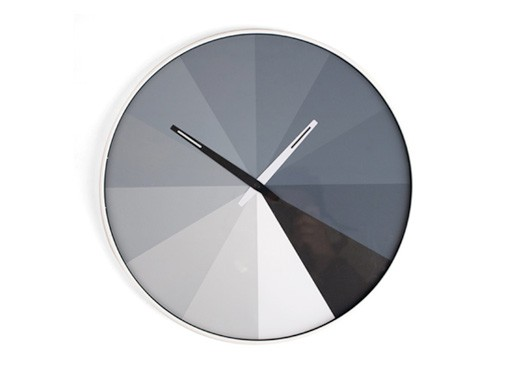 Ultra Flat Clock, Black and White