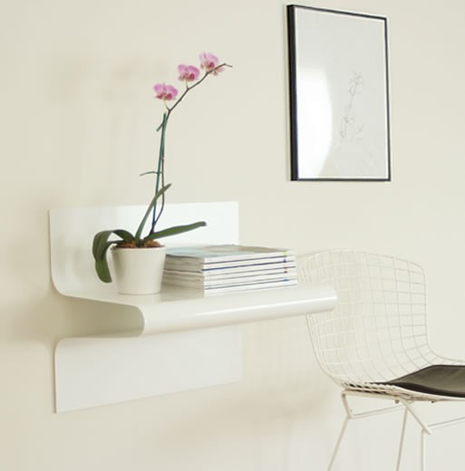 Waveform Shelf as a desk
