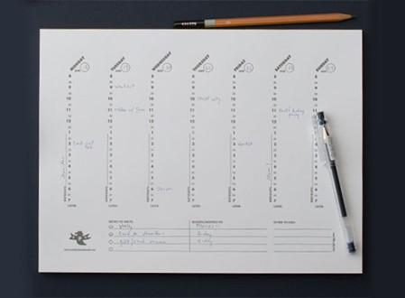 Weekly Desk Pad
